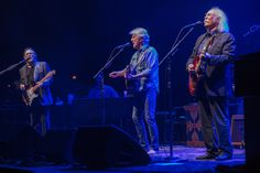 The folk-rock supergroup played a sold-out show Sunday night at the Riverside Theater in Milwaukee.