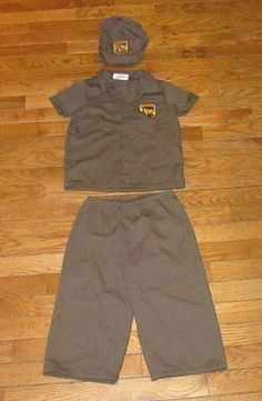 Toddler Halloween Costume (UPS) United Parcel Service Driver/Worker & UPS Delivery Driver Halloween Costume... one of a kind designed and ...