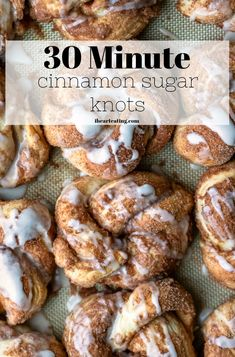 30 Minute Cinnamon Sugar Knots taste like homemade cinnamon rolls or cinnamon twists, but they're made from scratch in just half an hour! Cinnamon Twists, Cinnamon Rolls, Breakfast Recipes, Dessert Recipes, Breakfast Items, Snack Recipes, Sweet Bread, Food Print, Food To Make
