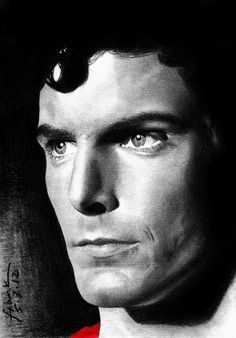 Christopher Reeve as Superman. Best Superman ever! Dc Comics, Action Comics 1, Superman Art, Superman Man Of Steel, Christopher Reeve Superman, Univers Dc, Lex Luthor, Celebrity Portraits, Clark Kent