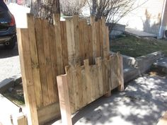 Pallet Headboard and Foot board by jpshirah on Etsy, via Etsy.