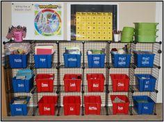 Homeschool Storage Idea for multi grade levels(large family)