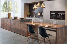 Designer Kitchen Wood Metal ZEY