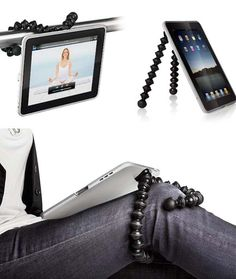 Joby Gorilla Mobile Yogi for iPad.  I just bought one for my iPhone.  I love it!