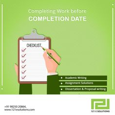 Submitting your work in a timely manner without delaying by 121esolutions.