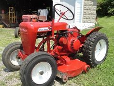 Small garden tractors vintage or antique unexpectedness!