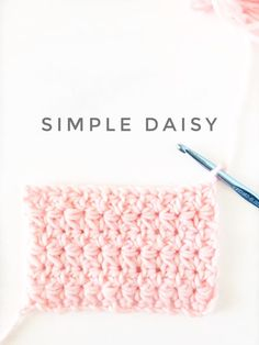 crochet simple daisy stitch