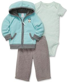 Carter's Baby Set, Baby Boys 3-Piece Bodysuit, Cardigan and Pants - Kids Baby Boy (0-24 months) - Macy's