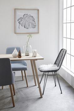 Une jolie chaise en rotin pour votre coin repas ! Une belle idée :) #rotin #Hübsch