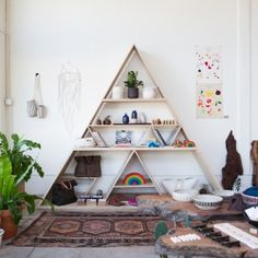 7 great example of how to add a geometric touch to your home. image via remodelista. (in Hungarian)