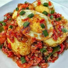 Resep masakan praktis sehari-hari Instagram Vegetarian Recipes, Cooking Recipes, Healthy Recipes, Cooking Time, Healthy Food, A Food, Food And Drink, Malay Food, Malaysian Food