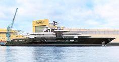 Lürssen launched project Thunder today! #lürssen #luerssen #lurssen #superyacht #luxury #yacht