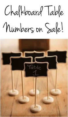 Chalkboard Table Numbers on Sale