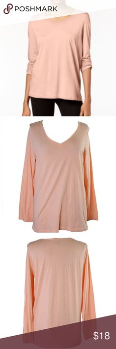 HUE V Neck Knit Pajama Top T Shirt Peach Nectar HUE Womens V-Neck Knit Pajama Top / T Shirt / sleewear. Color; Peach Nectar or light orange. New with Tags SIze Medium Material: Cotton / Modal blend. Very soft and comfy. Long sleeves.  Thanks for looking.  v HUE Intimates & Sleepwear