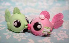 Pink and green kissing fish #cake #topper  https://www.facebook.com/photo.php?fbid=314498332005202=a.251293158325720.58171.249613975160305=3=https%3A%2F%2Ffbcdn-sphotos-f-a.akamaihd.net%2Fhphotos-ak-snc7%2F313772_314498332005202_402362098_n.jpg=960%2C604 http://pinterest.com/cakeavenue/