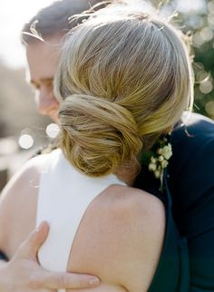 Wedding Hairstyles: 15 Oh So Romantic Bridal Updos - Low knot bridal updo