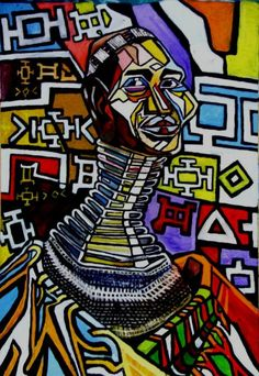 shape/ pattern Ostrich Woman Of South Africa Painting - Ostrich Woman Of South Africa Fine Art Print