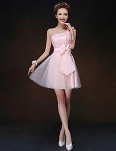 uma linha / princesa um ombro mini vestido curto / dama de h... – EUR € 27.26