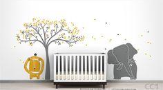 Moderne Baby Zoo Aufkleber Wandbild von von LeoLittleLion auf Etsy, $149.00