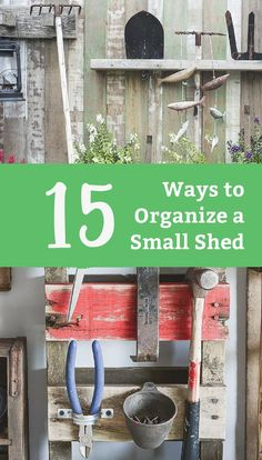 Get your shed organized for summer with these #DIY tips