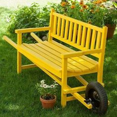 Barrow wheeled bench