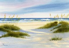 Afternoon Shadows fall across Wrightsville Beach Dunes - The Golden Gallery