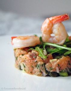 Tapas, I Love Food, Good Food, Yummy Food, Seafood Appetizers, Appetizer Recipes, Ceviche, Christmas Starters, Xmas Food