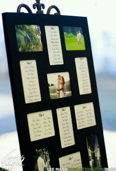 DIY seating chart Guest will see this at the end of the ceremony and at the reception.