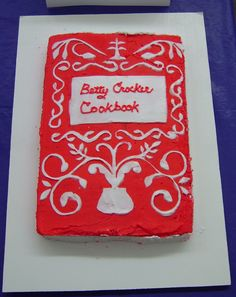 Edible book: the Betty Crocker Cookbook!  The very best. I found it. It's mine. 1956.