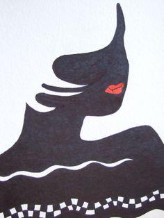 """""""Hot Lips""""  Pen & Ink"""