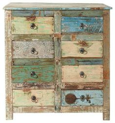 Aztec Dresser - Sofia's Rustic Furniture Shabby Chic 🧜‍♀️🐋⚙️Home Decor Project Ideas AND Tutorials🧜‍♀️🐋⚙️ Hand Painted Furniture, Distressed Furniture, Funky Furniture, Paint Furniture, Repurposed Furniture, Furniture Projects, Rustic Furniture, Furniture Makeover, Vintage Furniture