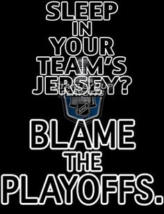 YES! Hockey sweater and boyshorts...is this not mandatory attire when yelling at the tv at home during playoffs?