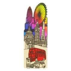 laser cut  card bookmark with london design from Paperchase