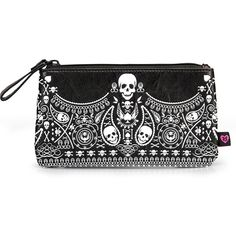 """Bandana"" Faux Leather Cosmetic Bag by Loungefly (Black/White)"