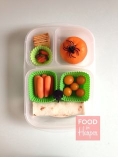 Skeleton Wrap :: Halloween lunch bento in an @EasyLunchboxes container. #foodforharper