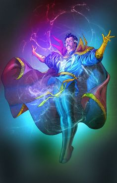 Dr Strange by Spiderguile Color by Ivan Nunes