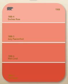 Trendy bedroom colors paint for girls coral Ideas Coral Paint Colors, Wall Paint Colors, Coral Color, Coral Navy, Orange Color, Orange Shades, Black Shades, Red Colour, Coral Orange