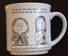 Health Food Tastes Like Sh*t Coffee Mug Cup Humor Dale Recycled Paper Vintage  #RecycledPaperProducts
