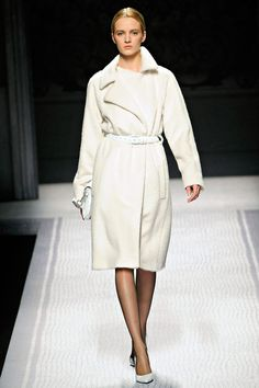 This white coat from Alberta Ferretti, Fall 2012 is just pure beauty.