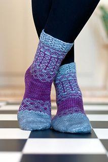Ravelry: Marit pattern by Erika Guselius Intarsia Knitting, Knitting Socks, Hand Knitting, Knitted Slippers, Wool Socks, Lots Of Socks, Colorful Socks, Knitting Accessories, Bunt