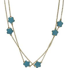 "KEP Designs 42"" Enamel Flower Necklace"