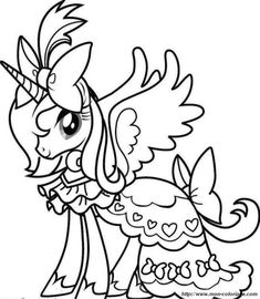 Unicorn A Really Cute Girl Unicorn Coloring Page