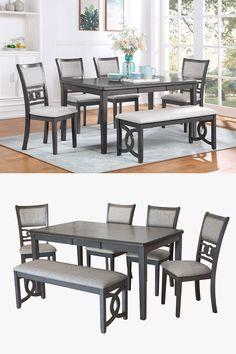 Contemporary and tasteful, the Gia dining set adds modern luxury to your dining room. The set features plush seats and chairbacks. Enjoy having room for the whole family at the table with the ability to seat six comfortably. The Gia dining set can be found at Great American Home Store in the Memphis, Cordova, TN, Southaven, Olive Branch, MS area. #diningroom #diningroomfurniture #diningset #diningtable #dining #shopgahs