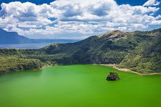 This emerald water is part of a breathtaking view that our country boasts of. Found in an island within a lake, on an island. Les Philippines, Philippines Beaches, Taal Volcano, World Travel Guide, Active Volcano, Crater Lake, Tourist Spots, Beach Holiday, Day Trip