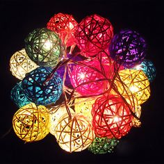2.2m 20 LED Rattan Ball String Light Home Garden Fairy Lamp For Party Xmas Decor #NEW