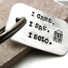 I Came I Saw I Sold Key Chain, perfect for the real estate obsessed, MADE TO ORDER by riskybeads on Etsy