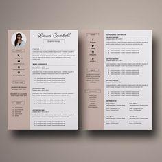 Modern Resume Template CV Template for MS Word image 1 Microsoft Word 2007, Cover Letter For Resume, Cover Letter Template, Letter Templates, Modern Resume Template, Resume Template Free, Free Resume, Resume Cv, Resume Design