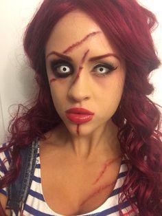 Chucky makeup | Makeup❤ | Pinterest | Chucky makeup and Halloween ...