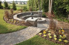 Nice outdoor firepit area if you have a sloped lot