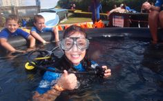Waterworld strand - try scuba for kids Dive Shop, Scuba Girl, Scuba Diving Gear, Cape Town, Swimming, Events, Kids, Diving, Diving Equipment